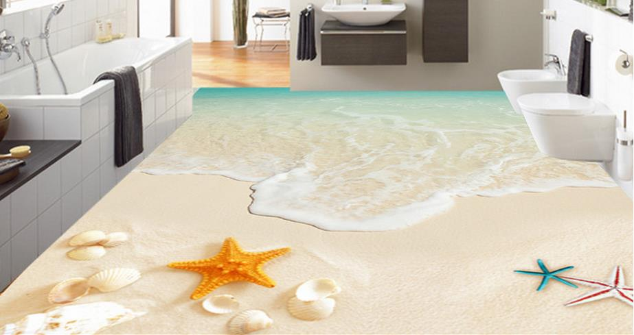 ФОТО 3d flooring allpaper custom 3d floor murals Shellfish 3d stereoscopic wallpaper 3d floor pvc self adhesive wallpaper