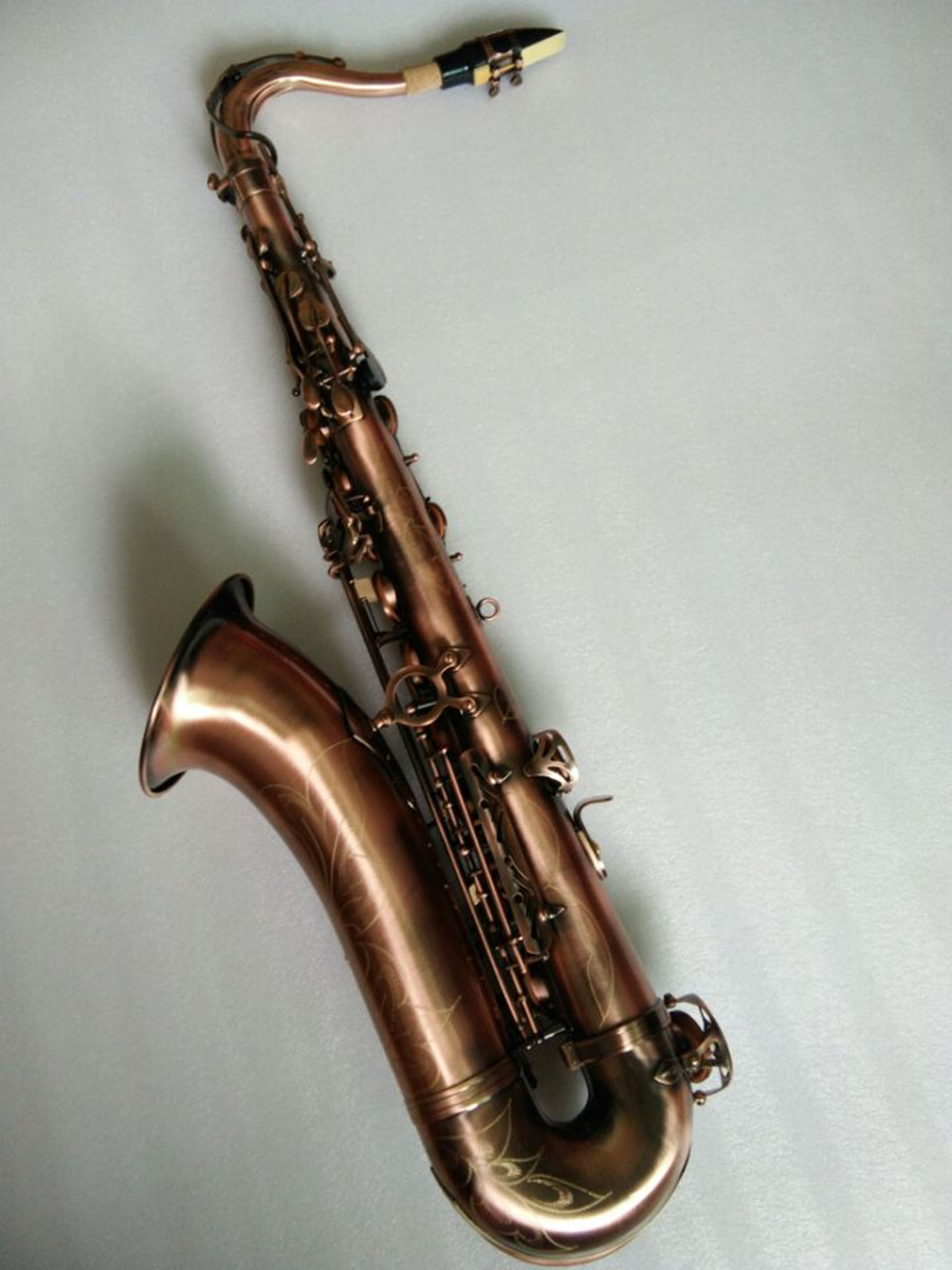 Tenor Sax High-quality Musical instrument tenor saxophone Antique copper Perfect quality Free shipment saxophone tenor sax saxophone bb antique brass surface wind instrument sax western instruments saxofone musical instruments saxophone