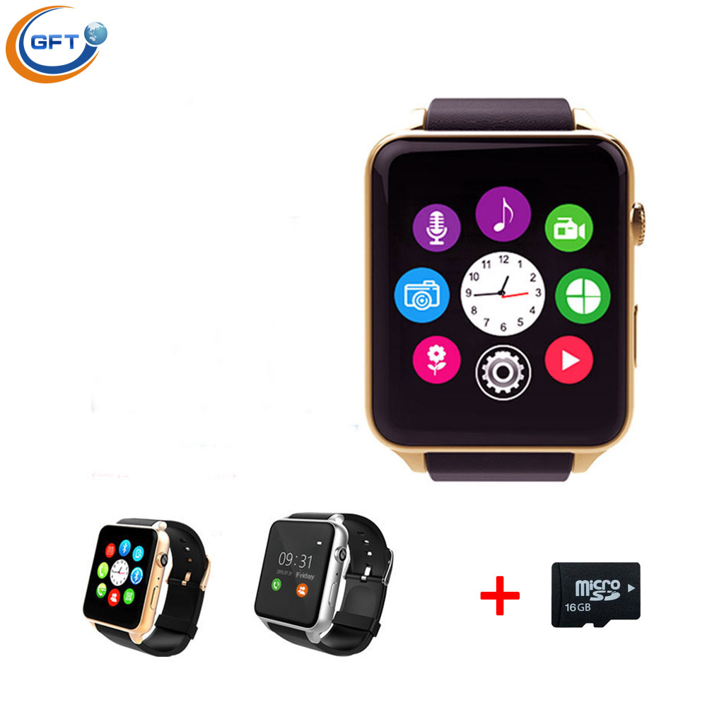 GFT Bluetooth Smart Watch Clock font b Smartwatch b font For IOS Android With Camera Support