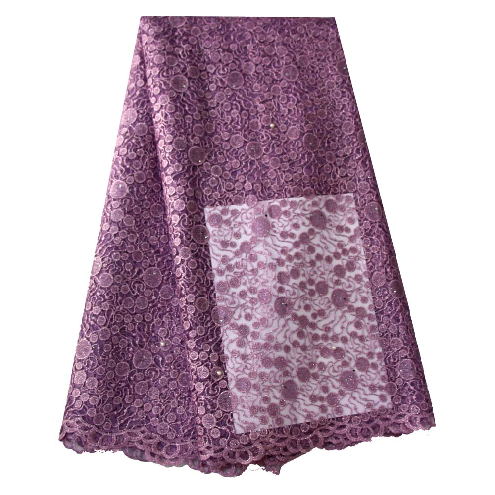 Ourwin Lilac Lace Fabric for Wedding Dresses Embroidered Beads Stones High Quality Shiny Net Lace Fabrics Blush Pink White GoldOurwin Lilac Lace Fabric for Wedding Dresses Embroidered Beads Stones High Quality Shiny Net Lace Fabrics Blush Pink White Gold