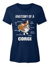 c2e5db87 2019 Fashion Hot sale Comfortable Anatomy Of A Corgi Funny Dog Standard  Women's T-Shirt Tee shirt