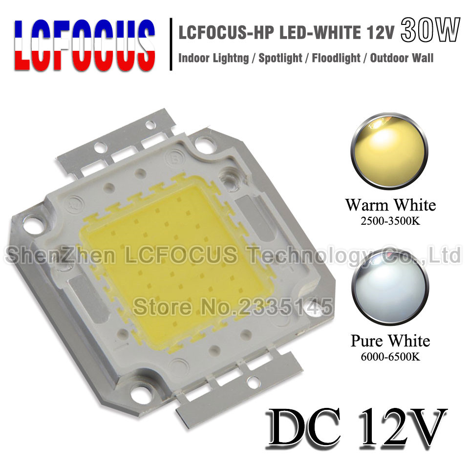 DC 12V Floodlight 1W 3W 5W 10W 20W 30W 50W 100W LED Chip Warm White For 1 3 10 20 30 50 100 W Watt Outdoor Flood Lights LED