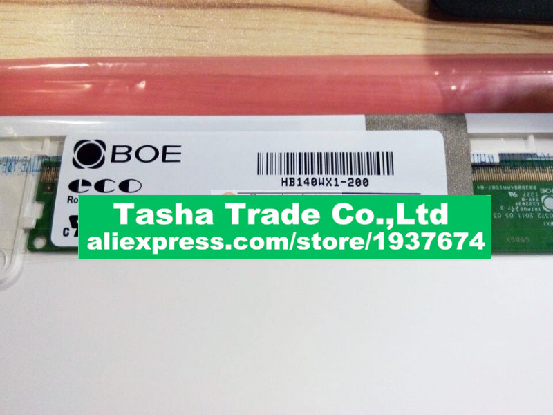 14.0 LCD Laptop Screen BOE HB140WX1-200 HB140WX1 200 LED Panel for New 14 WXGA HD Display ht140wxb 501 new 14 0 led lcd screen wxga hd panel display