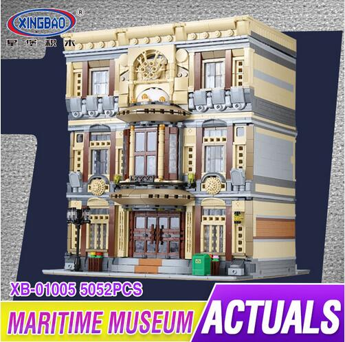 XingBao 01005 Block 5052Pcs Genuine Creative MOC City Series The Maritime Museum Set Building Blocks Bricks Toys Model Gifts