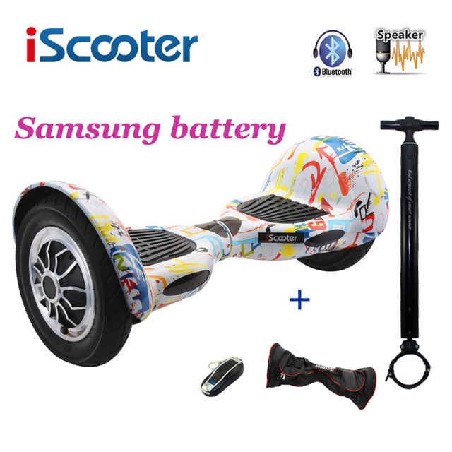 Iscooter hoverbaord 10 дюймов 700 Вт аккумулятор Samsung Электрический самобалансирующий скутер для взрослых детей скейтборд на 10 колесах giroskuter