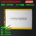3 7 V полимерный литиевый аккумулятор 357095 планшетный ПК Универсальный аккумулятор 4000mAh