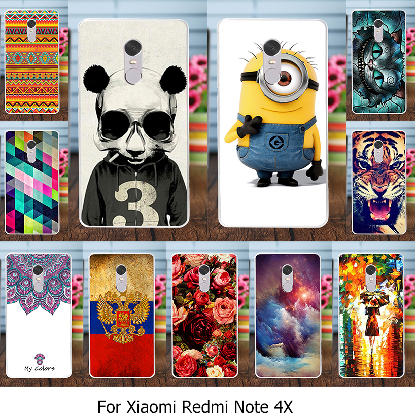 Galleria fotografica AKABEILA Phone <font><b>Cover</b></font> Case For Xiaomi Redmi Note 4X <font><b>Cover</b></font> Platic TPU Redmi Note 4 X Note4X 5.5 inch Cat Rose Case <font><b>Smartphone</b></font> Skin