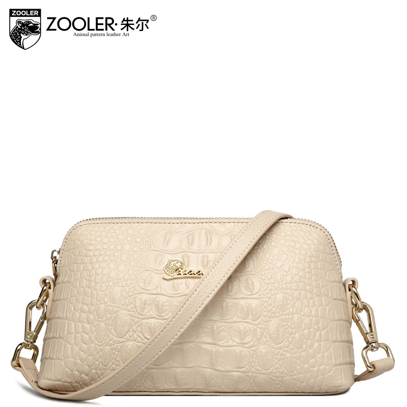 ФОТО ZOOLER Beige Small Bag Made Of Genuine Leather Alligator Stylish Women Messenger Bags Carteras Mujer Marcas Famosas Good Quality