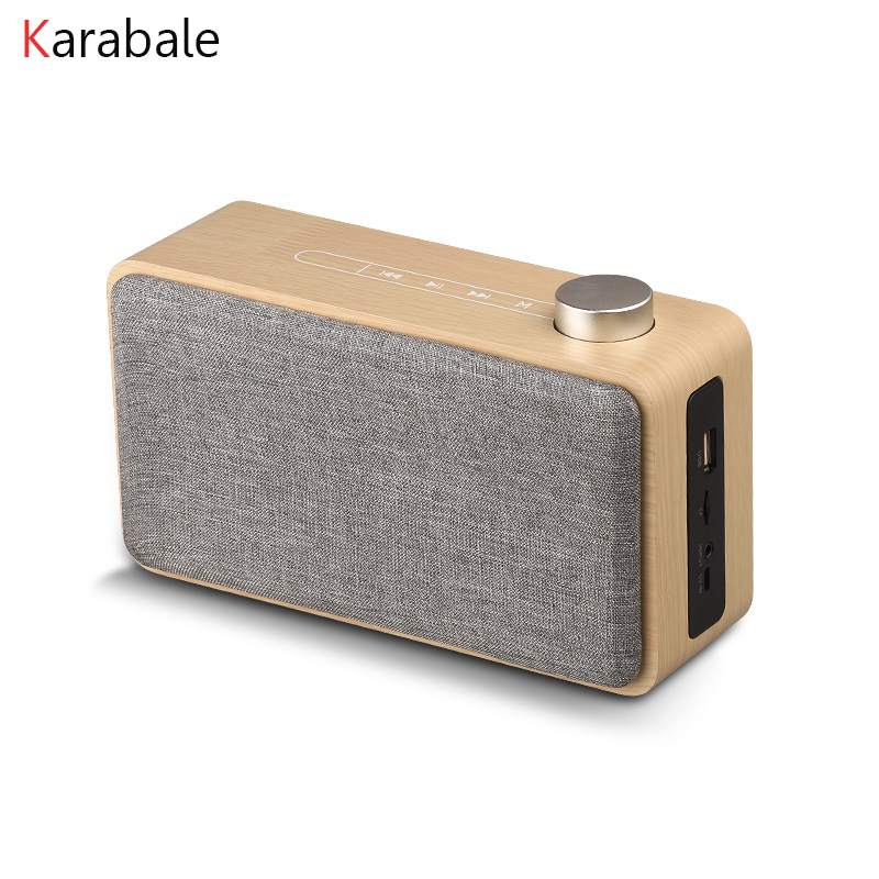 Wood Speakers Mp3-Player Fm-Radio Portable Subwoofer Music Super-Bass Wireless NEW Touch