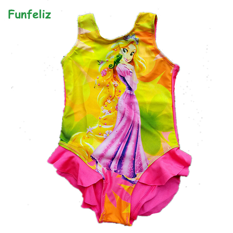 a2420af5f53e7 Funfeliz Girls Swimsuit one-piece swimwear Striped Swimming Suit with Skirt  Teenage Girls Swimwear Kids Bathing Suit 7T-15TUSD 13.32 piece