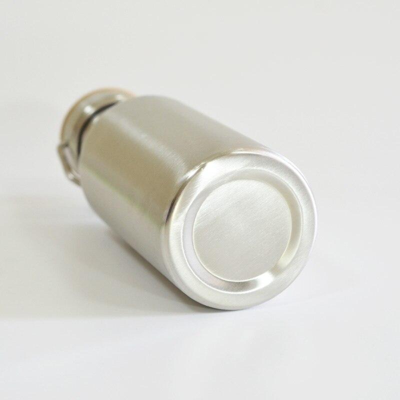 Botella de agua de acero inoxidable libre de BPA Tapa de bambú - Cocina, comedor y bar - foto 4