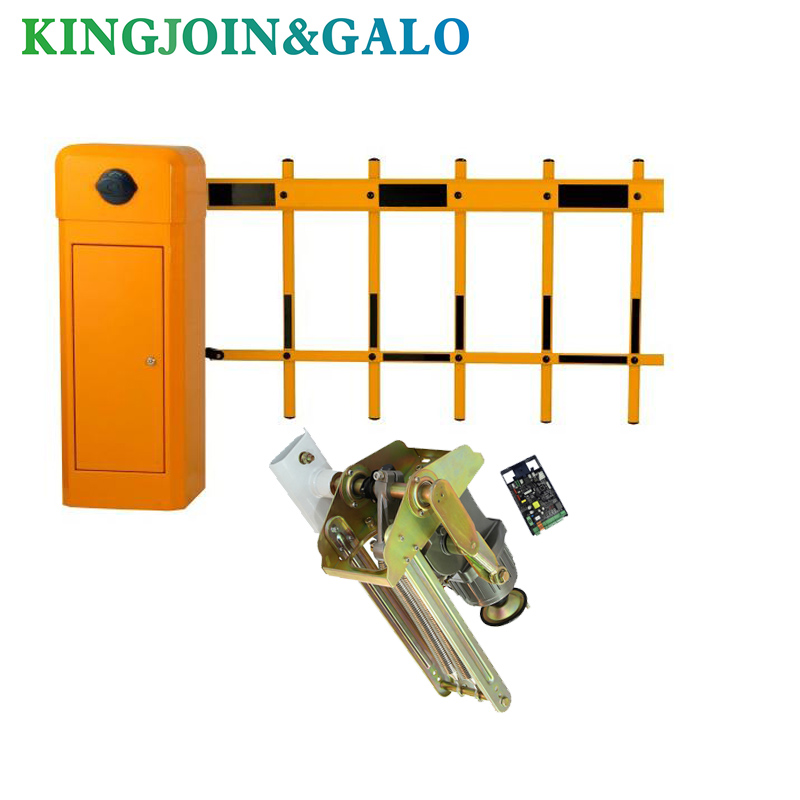 High Quality Automatic Parking Barrier Door With 2 Double Fence Arm Road Guardrail