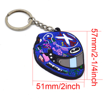 Motorcycle keychain agv helemt moto gp race Keyring Rubber for ducati monster