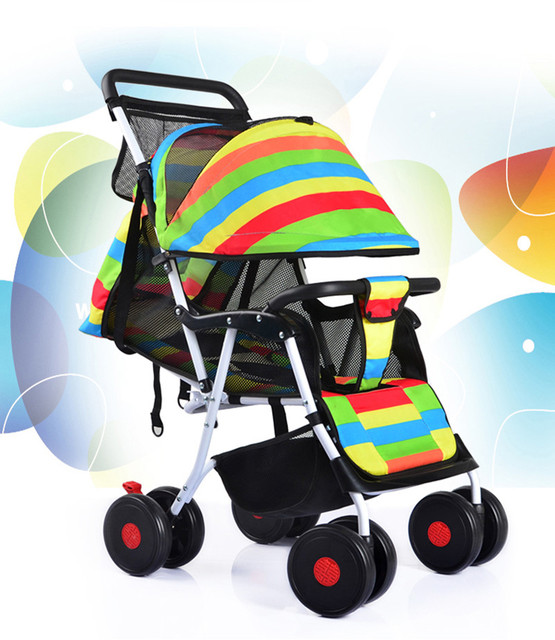 Fashion baby stroller  portable folding child cart
