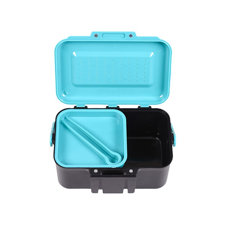 Multifunction Earthworm Durable Portable Fishing BOX +CLIP Fish Lure Hook Bait case Waist Fishing Boxes Fishing Accessories(China)