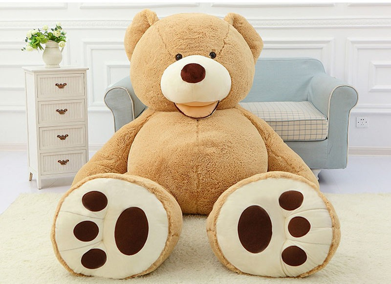Cheap 130CM big giant stuffed teddy bear big large huge brown plush soft toy kid children doll girl Birthday Christmas gift giant teddy bear 220cm huge large plush toys children soft kid children baby doll big stuffed animals girl birthday gift