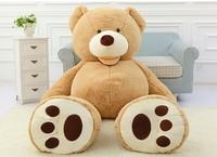 Cheap 130CM big giant stuffed teddy bear big large huge brown plush soft toy kid children doll girl Birthday Christmas gift