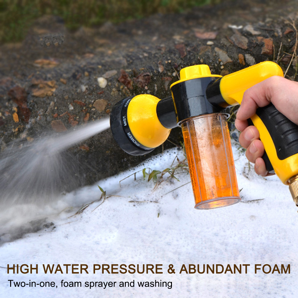 Portable Auto Foam Sprayer Garden Water Hose Foam Nozzle Soap Dispenser Gun  Car Washer Sprayer Cleaning Tool Car Washing(China)