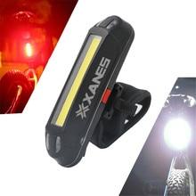 XANES 2 в 1 500LM велосипед USB Перезаряжаемые светодиодный велосипедная фара, задний свет Сверхлегкий безопасности лампа Предупреждение ночь аксессуары для верховой езды