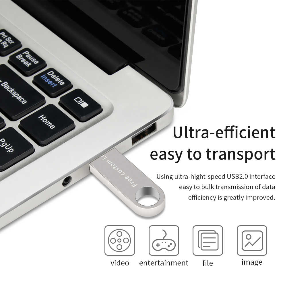 Nowy XIWANG USB flash jazdy 64GB 32GB 16GB 8GB 4GB pen drive pendrive 128GB wodoodporna metal srebrny u dysku pendrive darmowe LOGO