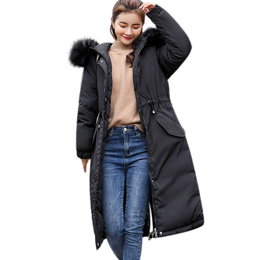 US $29.75 15% OFF|Top Women Winter Slim Coat Solid Lammy Thick Hooded Parka Manteau Femme Hiver Kurtka Zimowa Chamarras De Mujer Jaqueta Feminina in