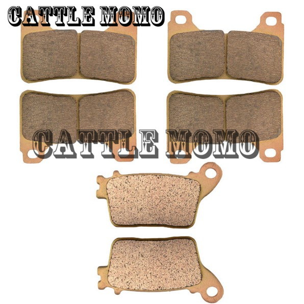 Motorcycle Front Brake Pads and Rear Brake Pads For Honda CBR1000RR CBR1000 RR 2004 2005 Fireblade Sintered Brake Disc Pad Motor motorcycle front and rear brake pads for husqvarna wr 360 wr360 1997 2003 sintered brake disc pad