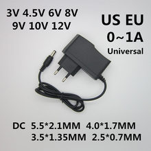 1 шт. AC 110-240 В DC 3 в 4,5 в 6 в 8 в 9 в 10 в 12 В для 1A светодиодный светильник с полосками адаптер питания 12 Вольт 1 A конвертер источник питания 12 В