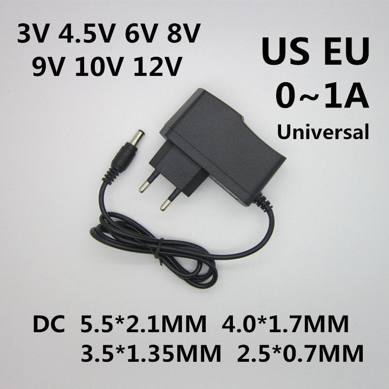 1 шт. AC 110 240 В DC 3 в 4,5 в 6 в 8 в 9 в 10 в 12 В для 1A светодиодные полосы адаптер питания 12 Вольт 1 A конвертер питания 12 В Адаптеры AC/DC      АлиЭкспресс