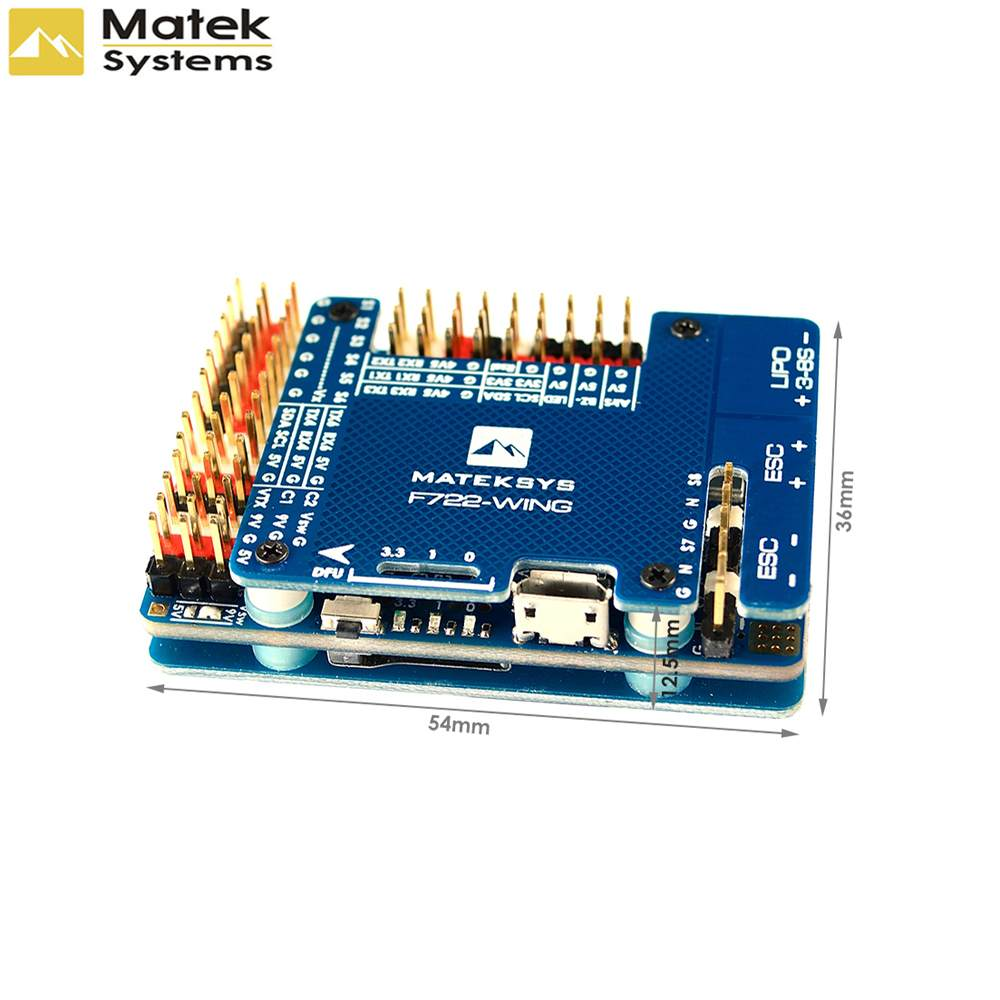 Matek Systems F722-WING STM32F722RET6 Flight Controller Built-in OSD For RC Airplane Fixed Wing RC Models