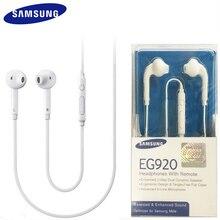 Original SAMSUNG EO EG920BW Kopfhörer Wired 3,5mm stecker mit Mic In ohr Stereo Sport Kopfhörer für Galaxy S6 S7 s7Edge S8 S9 S10