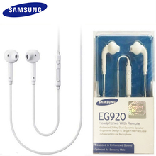 מקורי SAMSUNG EO EG920BW אוזניות Wired 3.5mm תקע עם מיקרופון ב אוזן סטריאו ספורט אוזניות לגלקסי S6 S7 s7Edge S8 S9 S10