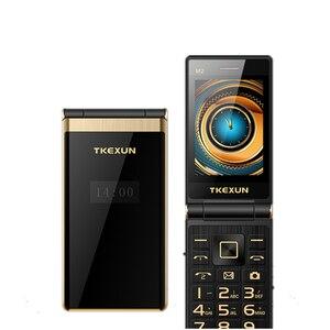 Image 1 - Дешевый телефон раскладушка, телефон раскладушка TKEXUN M2, сенсорный экран 3,0 дюйма, четырехдиапазонный, GSM, женский телефон, роскошный, быстрый набор, русская клавиатура, сотовый телефон