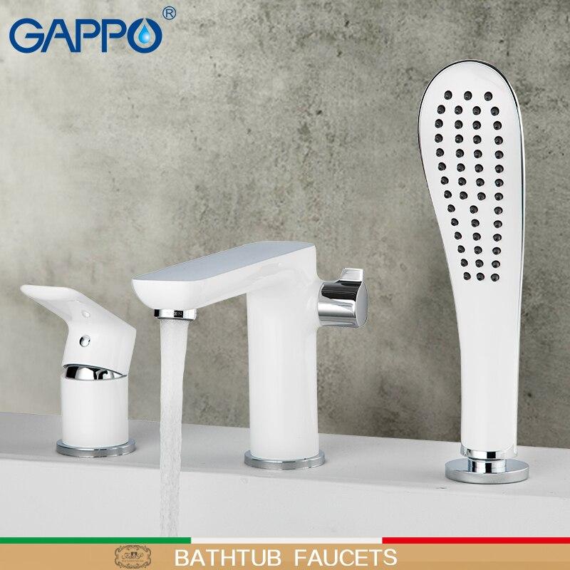 Gappo banheira torneiras torneira do chuveiro do banheiro torneira da banheira fixado na parede do banho misturador cachoeira torneira da bacia sink toque mixer