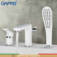 GAPPO robinets de baignoire salle de bains robinet de douche robinet de bain baignoire mural mitigeur de bain cascade robinet lavabo mitigeur