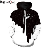 BIANYILONG 2018 New Fashion Men Women 3d Sweatshirts With Hat Dragonball Z Print Hooded Hoodies Thin