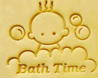 Baby Bath Time Soap Stamp Soap Mold Seal Resin DIY Handmade Soap