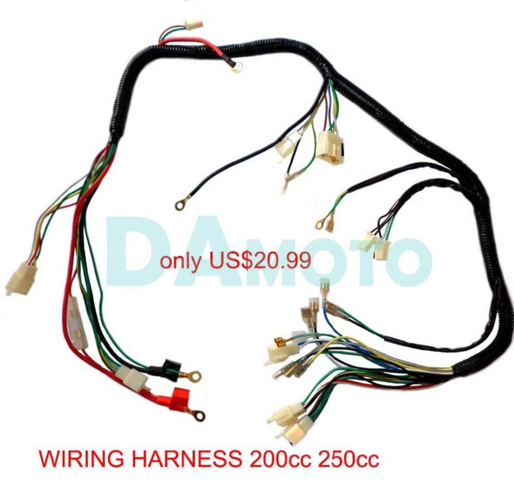 quad wiring harness 200 250cc chinese electric start loncin zongshen ducar lifan free shipping [ 1000 x 942 Pixel ]