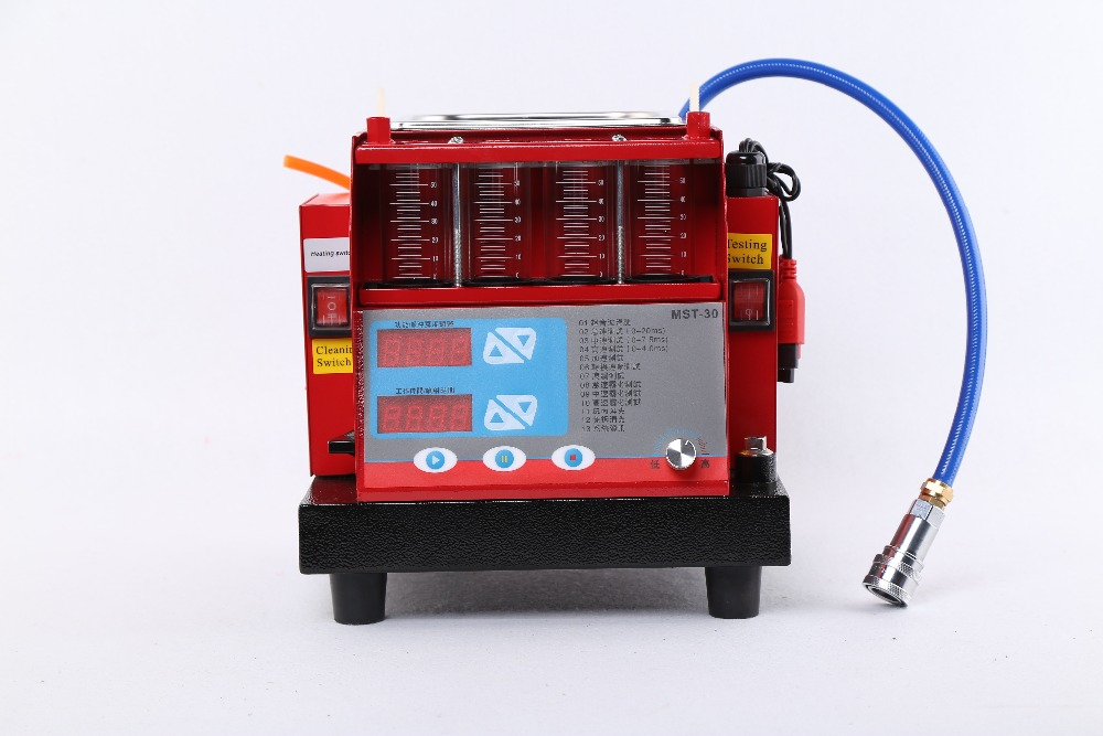 220V 110V 4 cylinder Fuel Injector tester ultra Cleaner MST 30 ultrasonic cleaning nozzle washing machin