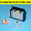 5 цветов/комплект PGI-770 PGI-771 СНПЧ системы для Canon PIXMA MG5770 MG6870 картридж принтера с чипом Arc