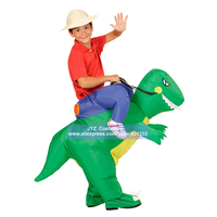 Germany Spain Hot Sale Party Necessary Fan Operated Dinosaur Inflatable Costume For Kids Fancy Suit
