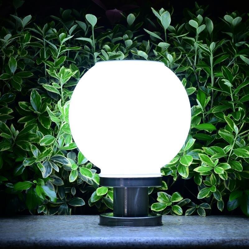 Image 3 - 18 светодиодный светильник с круглым шариком из нержавеющей стали, солнечный светильник, уличный IP65 водонепроницаемый светильник с колонной для сада, виллы, сада, отеля-in Светодиодные солнечные лампы from Лампы и освещение