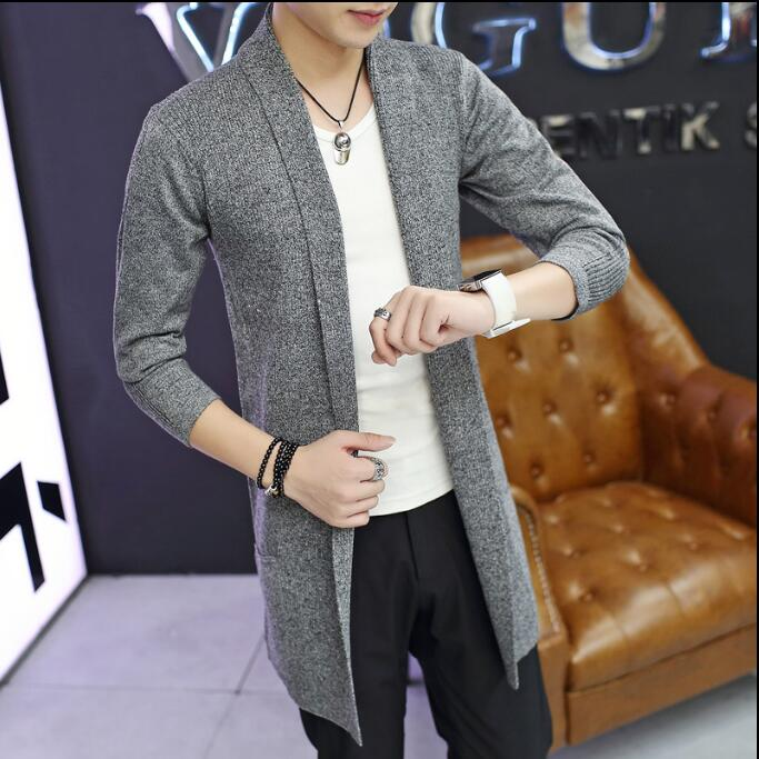 Spring Men's sweater Casual Long-sleeve Cardigan sweater Pull homme Autumn