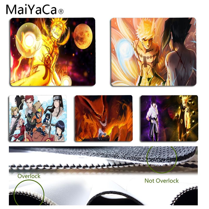 MaiYaCa Super Handsome Naruto Anti-Slip Durable Silicone Computermats Size for 25x29CM Speed Version Gaming Mousepads