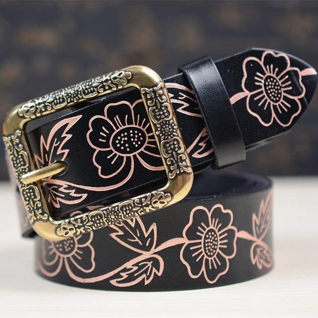Mulheres Cintos de Moda Cintos de Couro genuíno Cintos Cinturon Requintado Do Vintage Cintos de Grife Para Mulheres Frete Grátis