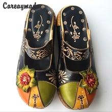 Nxehtë, 2015 stil i ri Folklorik Këpucë gdhendëse të pastra të bëra me dorë të buta të bëra me dorë, këpucë retro art mori, vajza sandale rastësore
