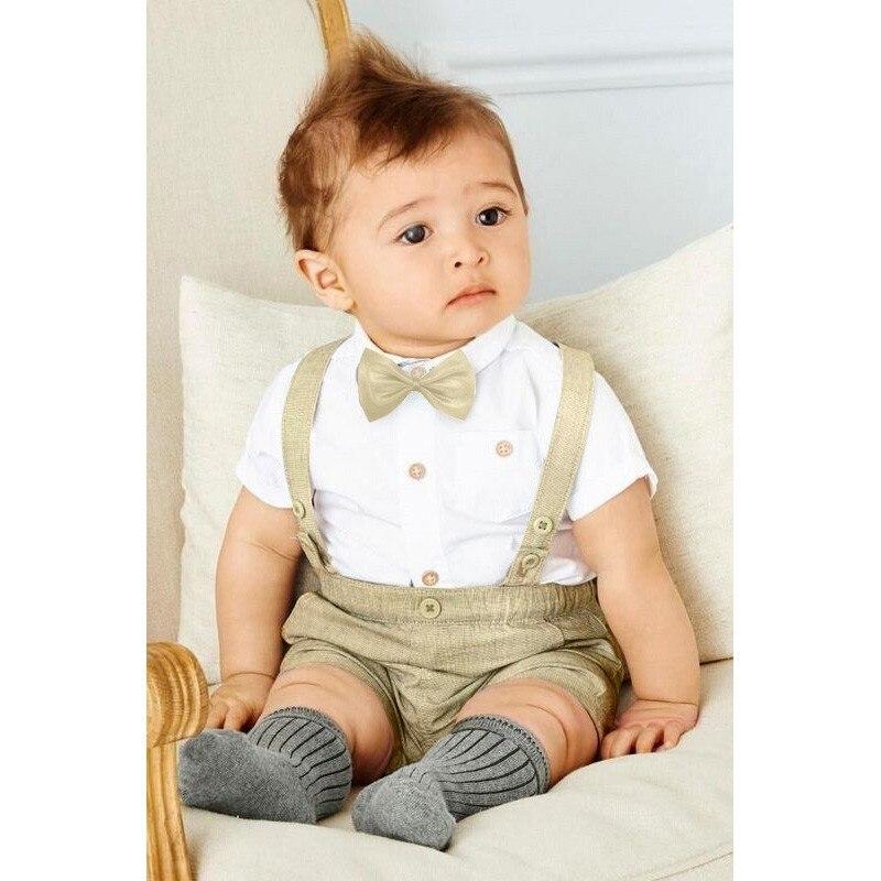 Lente Zomer Stijl Pasgeboren kinderen Baby jongens korte mouw T-shirt - Babykleding - Foto 2