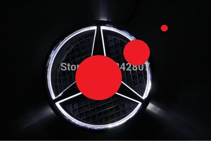 car front grille led logo badge emblem for Ben - z front grille led emblem logo light 4 colors abs decorative grill lamp for f ord r anger t7 2016 2017 car styling