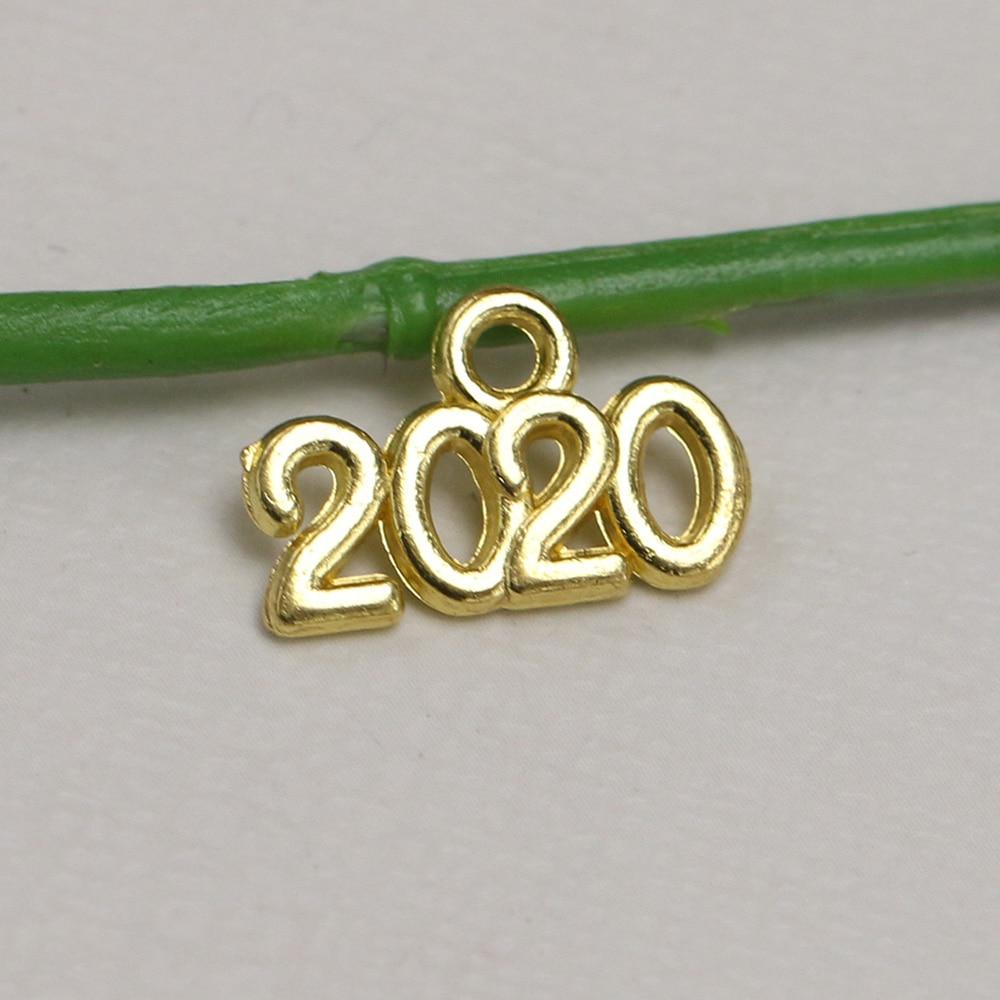 200//600pcs Retro style 2020 alloy Charms Pendants DIY Jewellery crafts 14x9mm