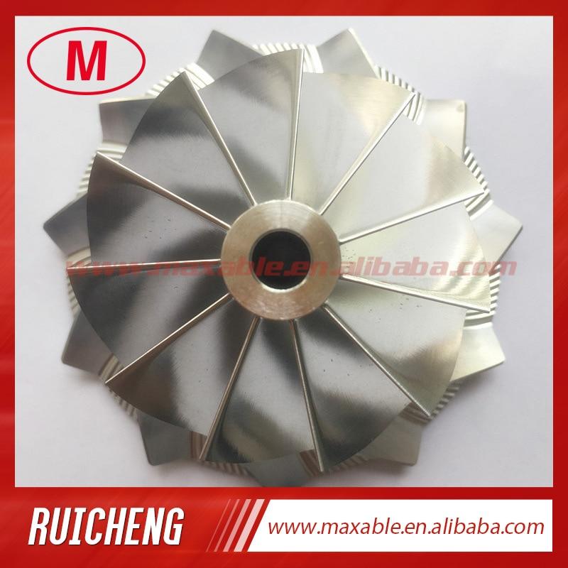 GT28 55812/3712-0001 47,10/63,40 мм 11 + 0 лопасти турбо заготовка/Фрезерование/алюминий 2618 компрессор колесо для 816365-0001/446179-0093