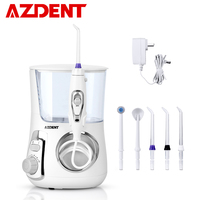 AZDENT 800ml Electric Oral Irrigator Dental Water Flosser With 5 Jet Tips Dental Oral Hygiene 10 Pressures Teeth Cleaner Floss